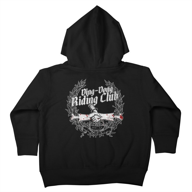 DING DONG RIDING CLUB Kids Toddler Zip-Up Hoody by Rocks Off Threads