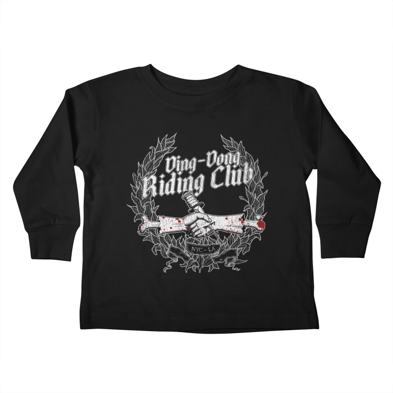 DING DONG RIDING CLUB Kids Toddler Longsleeve T-Shirt by Rocks Off Threads