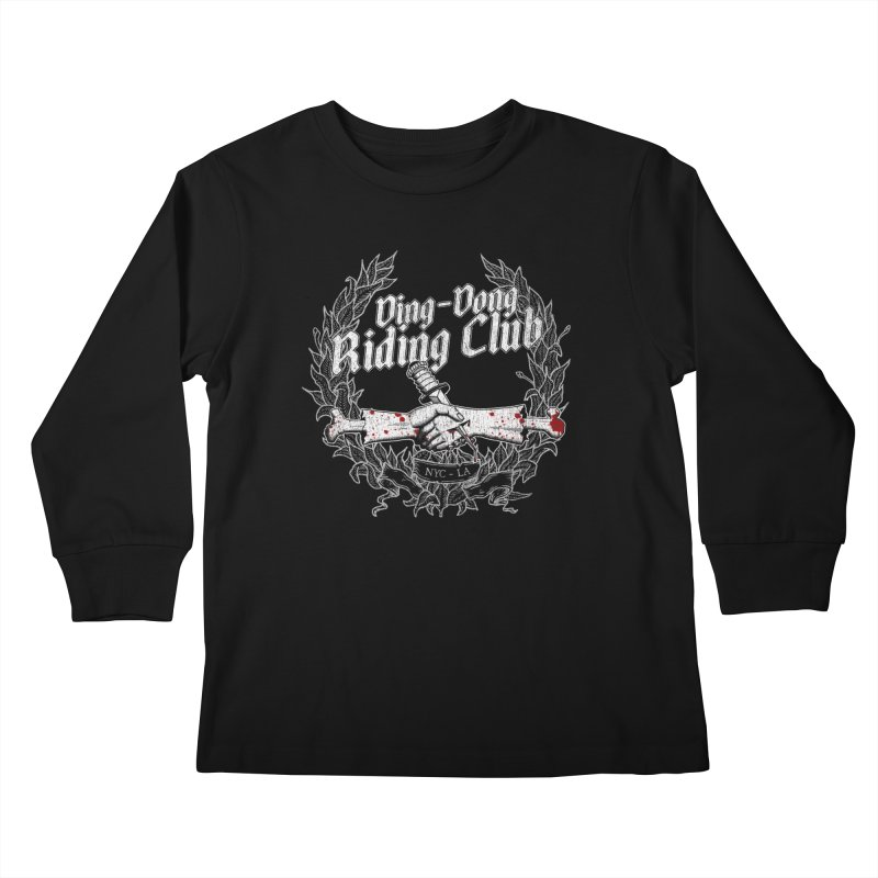 DING DONG RIDING CLUB Kids Longsleeve T-Shirt by Rocks Off Threads