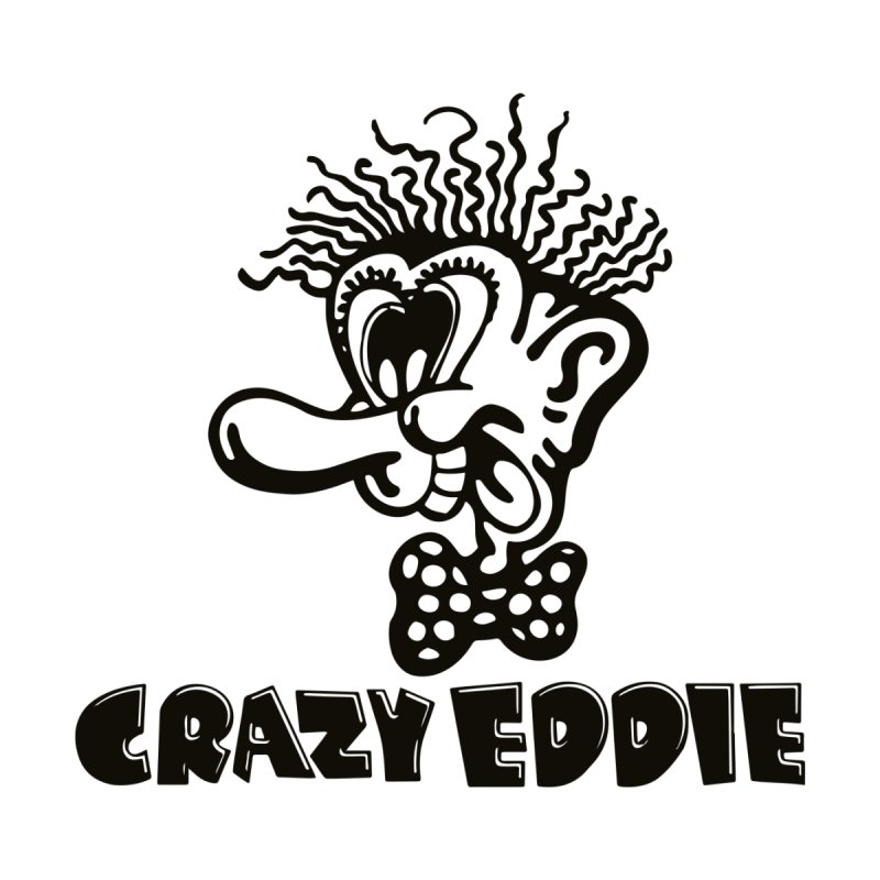 CRAZY EDDIE Men's Sweatshirt by Rocks Off Threads