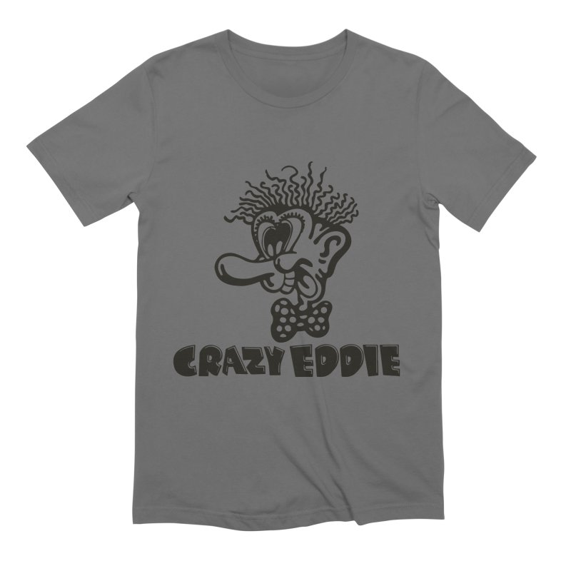 CRAZY EDDIE Men's T-Shirt by Rocks Off Threads
