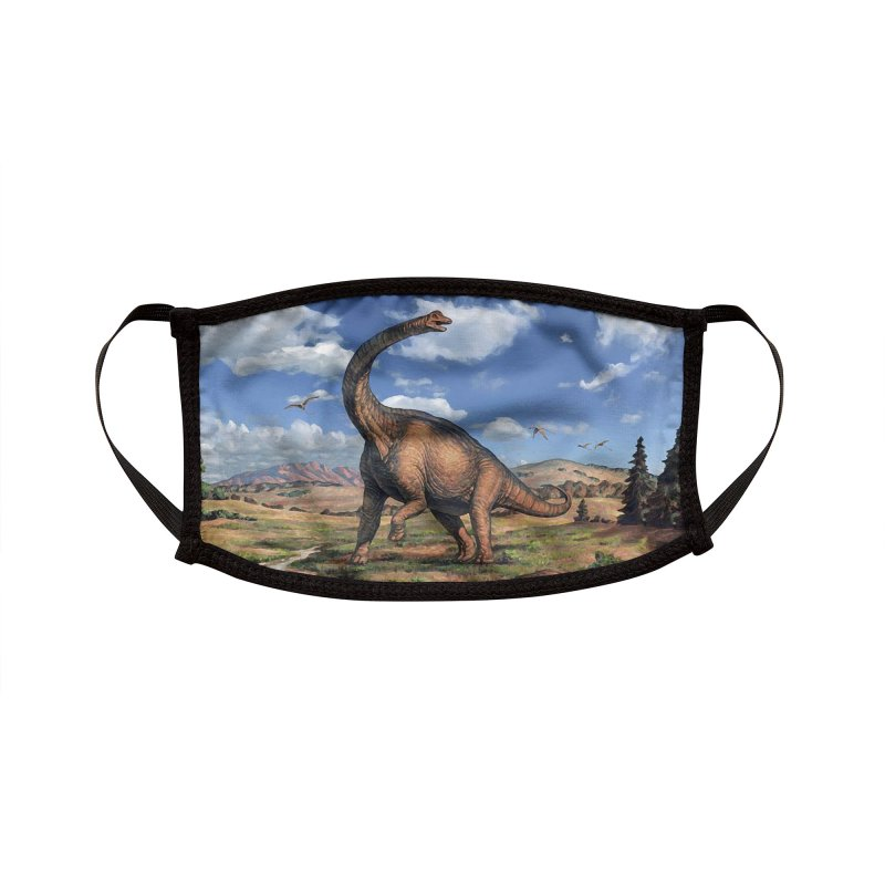 BRONTOSAURUS Accessories Face Mask by Rocks Off Threads