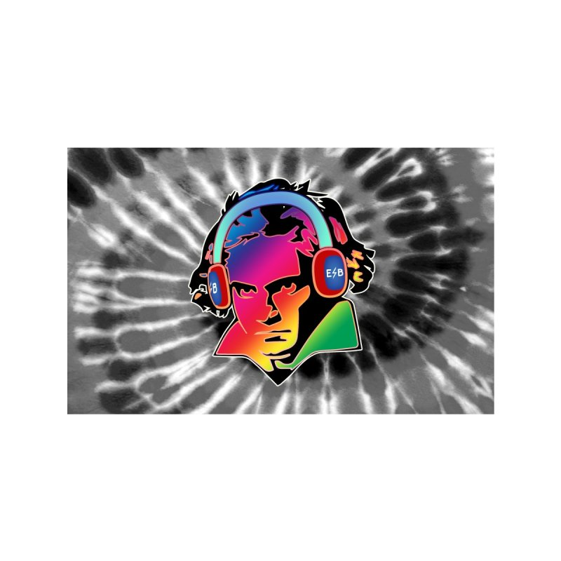 ELECTRIC BEETHOVEN TIE DYE Accessories Face Mask by Rocks Off Threads