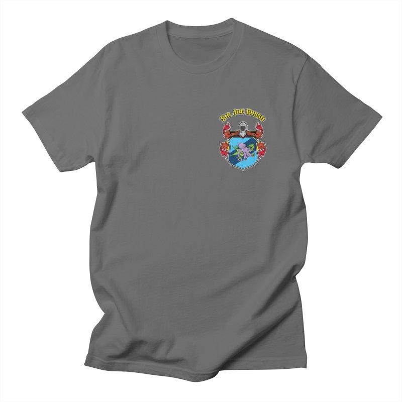 SIR JOE RUSSO left chest print apparel Men's T-Shirt by Rocks Off Threads