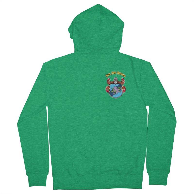 SIR JOE RUSSO left chest print apparel Women's Zip-Up Hoody by Rocks Off Threads