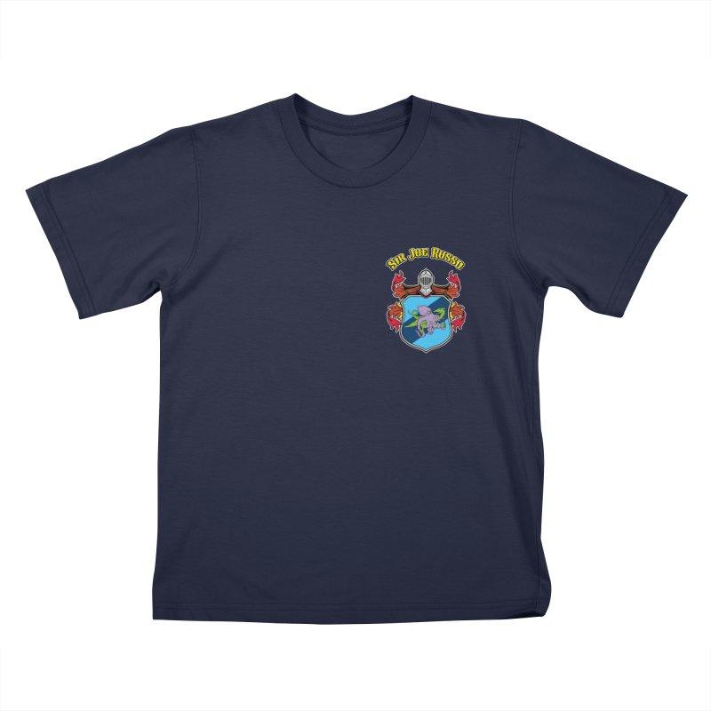 SIR JOE RUSSO left chest print apparel Kids T-Shirt by Rocks Off Threads