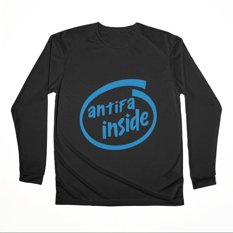 ANTIFA INSIDE Women's Longsleeve T-Shirt by Rocks Off Threads