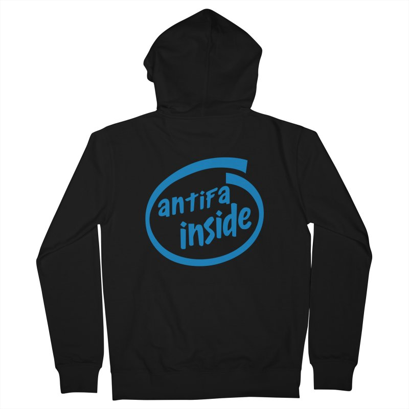 ANTIFA INSIDE Women's Zip-Up Hoody by Rocks Off Threads