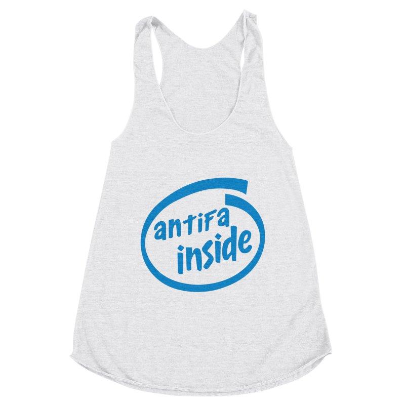 ANTIFA INSIDE Women's Tank by Rocks Off Threads