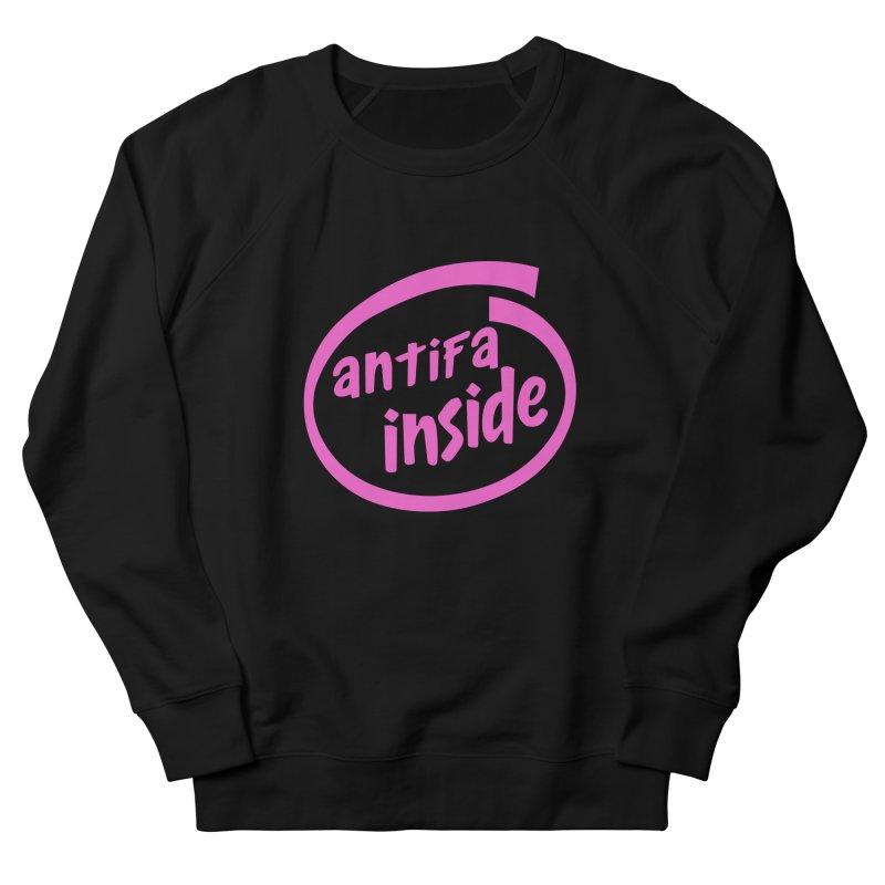 ANTIFA INSIDE pink Women's Sweatshirt by Rocks Off Threads