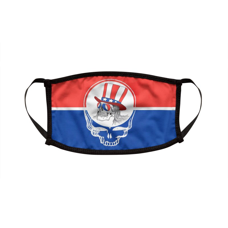 DEAD WHITE AND BLUE Accessories Face Mask by Rocks Off Threads