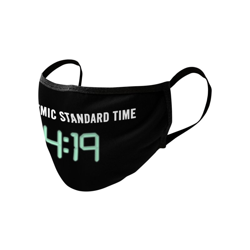 PANDEMIC STANDARD TIME Accessories Face Mask by Rocks Off Threads