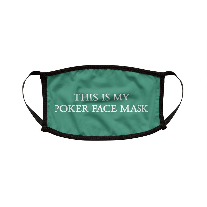 POKER FACE Accessories Face Mask by Rocks Off Threads