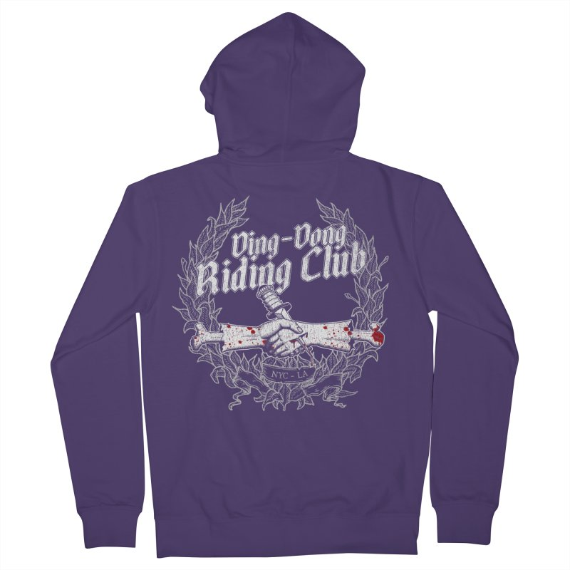 DING DONG RIDING CLUB Women's Zip-Up Hoody by Rocks Off Threads