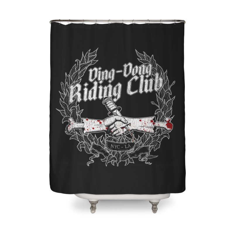 DING DONG RIDING CLUB Home Shower Curtain by Rocks Off Threads