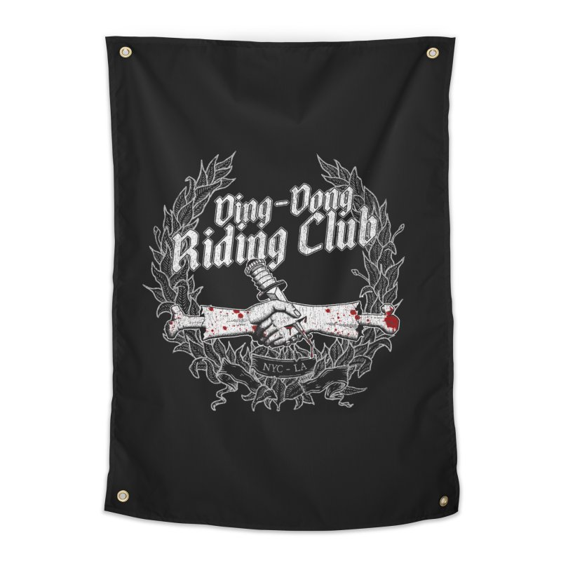 DING DONG RIDING CLUB Home Tapestry by Rocks Off Threads