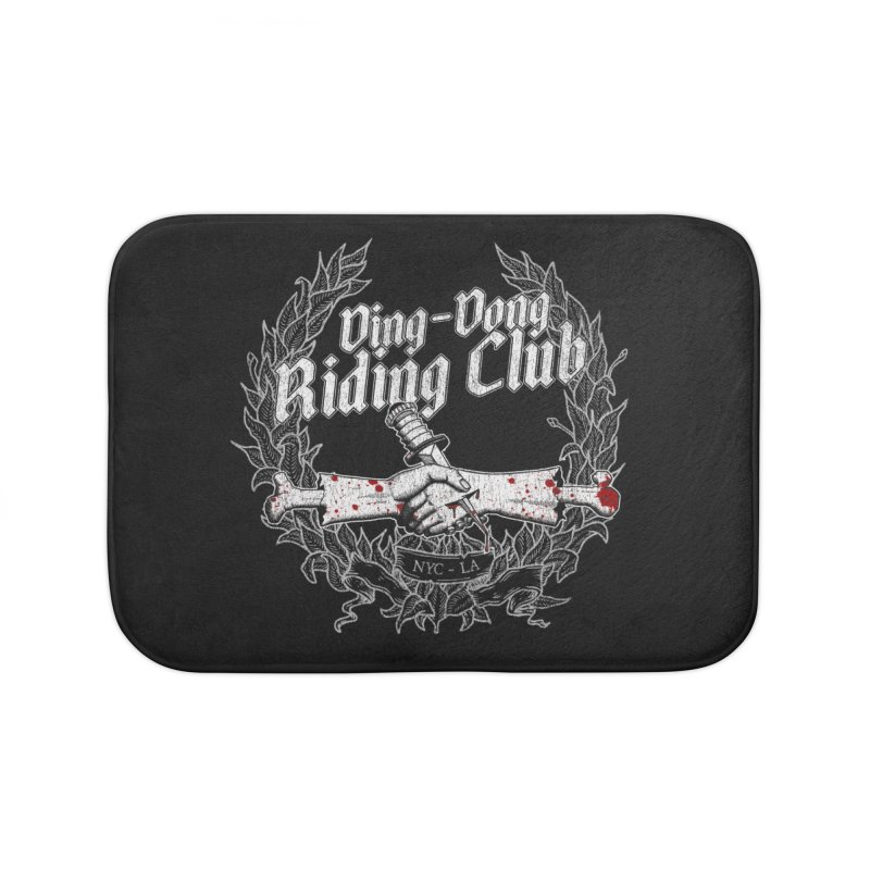 DING DONG RIDING CLUB Home Bath Mat by Rocks Off Threads