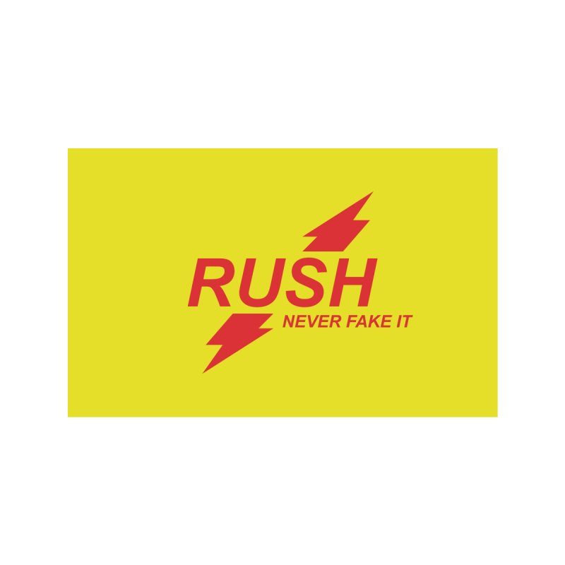 RUSH - Never Fake It! Accessories Face Mask by Rocks Off Threads