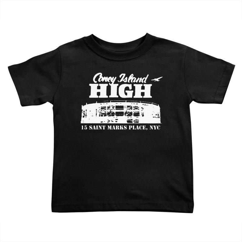 CONEY ISLAND HIGH Kids Toddler T-Shirt by Rocks Off Threads