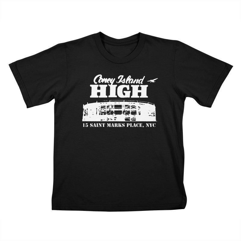 CONEY ISLAND HIGH Kids T-Shirt by Rocks Off Threads