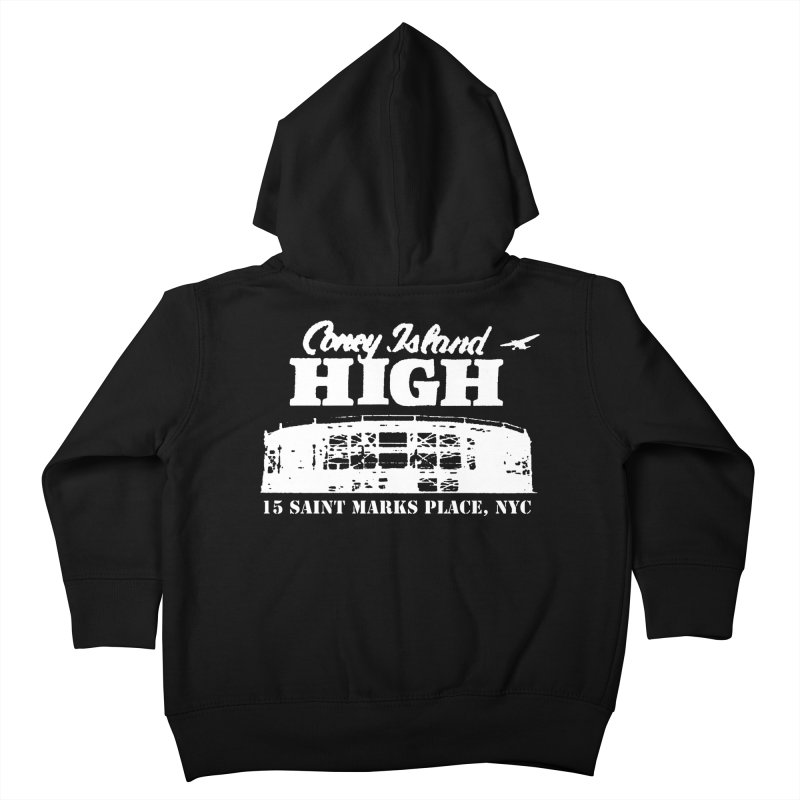CONEY ISLAND HIGH Kids Toddler Zip-Up Hoody by Rocks Off Threads