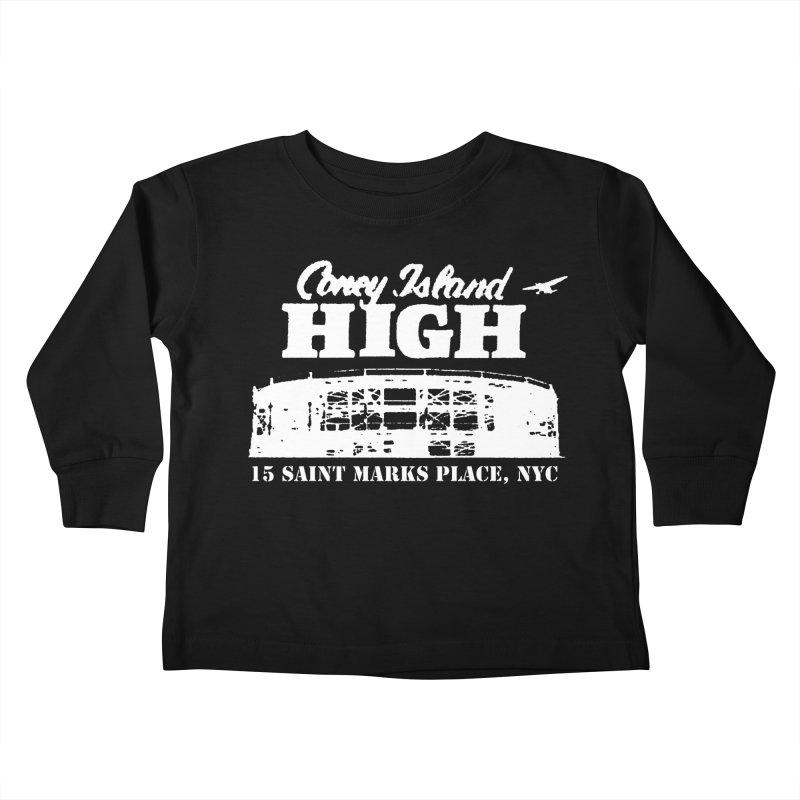 CONEY ISLAND HIGH Kids Toddler Longsleeve T-Shirt by Rocks Off Threads