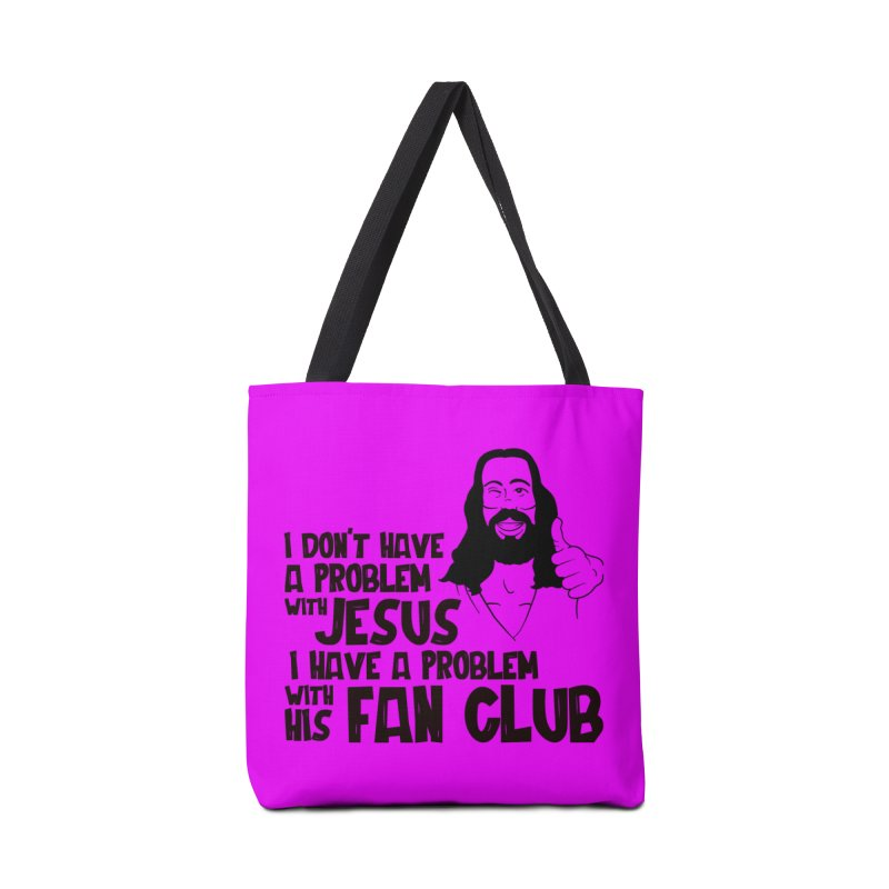 NO PROBLEM WITH JESUS Accessories Bag by Rocks Off Threads