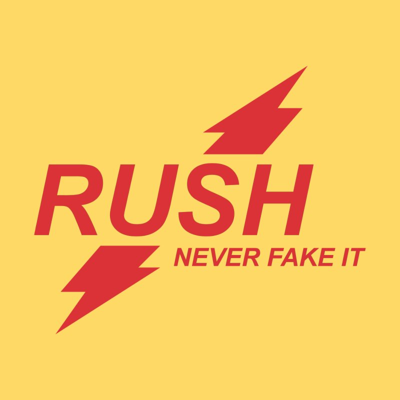 RUSH - NEVER FAKE IT Kids Pullover Hoody by Rocks Off Threads