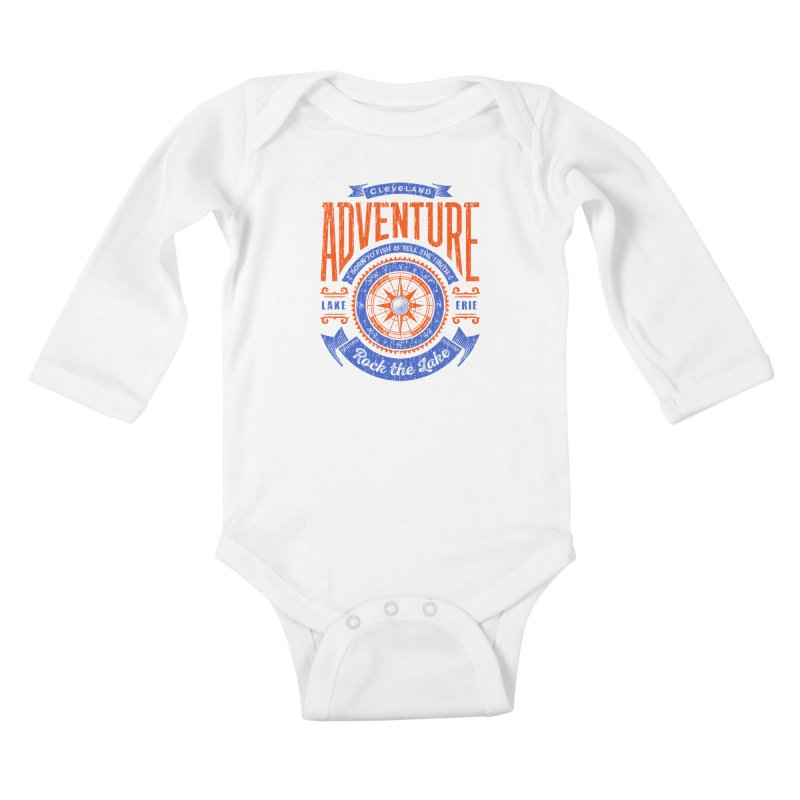Cleveland Adventure - Rock the Lake Kids Baby Longsleeve Bodysuit by Rock the Lake's Shop