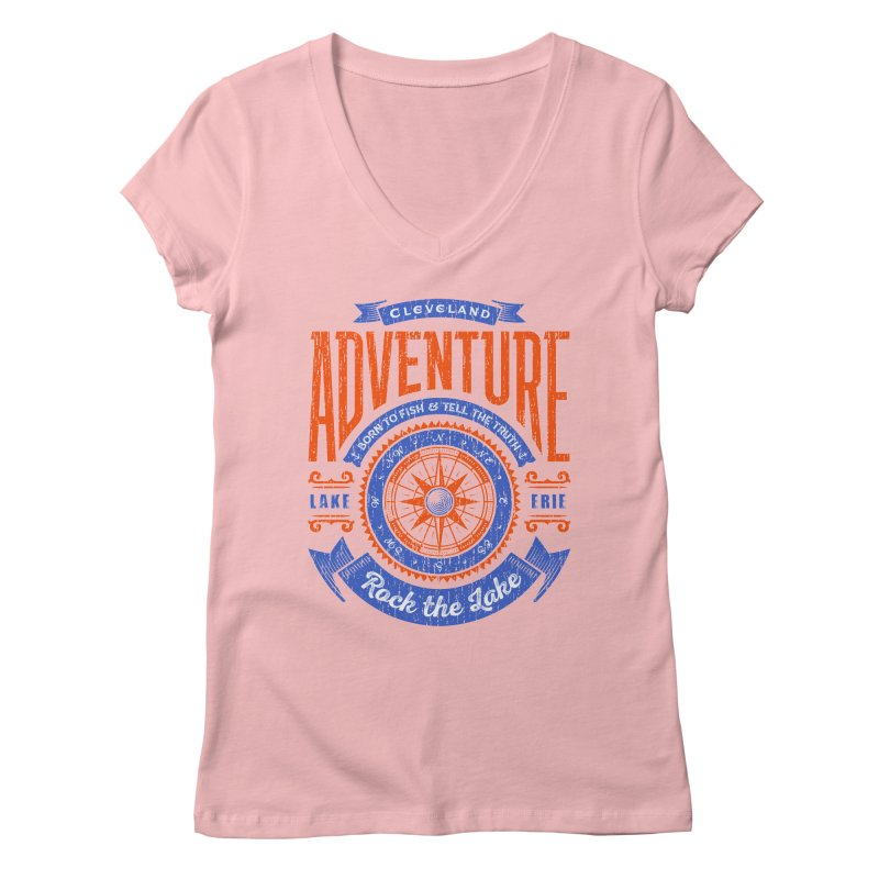 Cleveland Adventure - Rock the Lake Women's Regular V-Neck by Rock the Lake's Shop