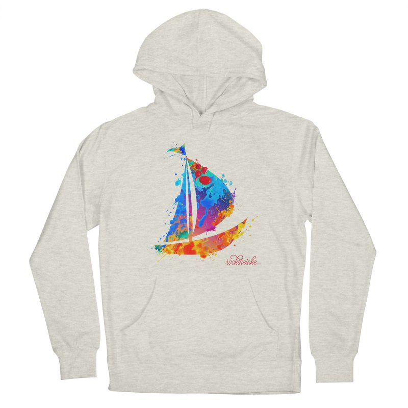 Sail Boat - Rock the Lake Men's French Terry Pullover Hoody by Rock the Lake's Shop