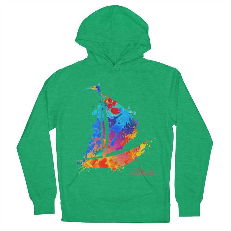 Sail Boat - Rock the Lake Women's French Terry Pullover Hoody by Rock the Lake's Shop