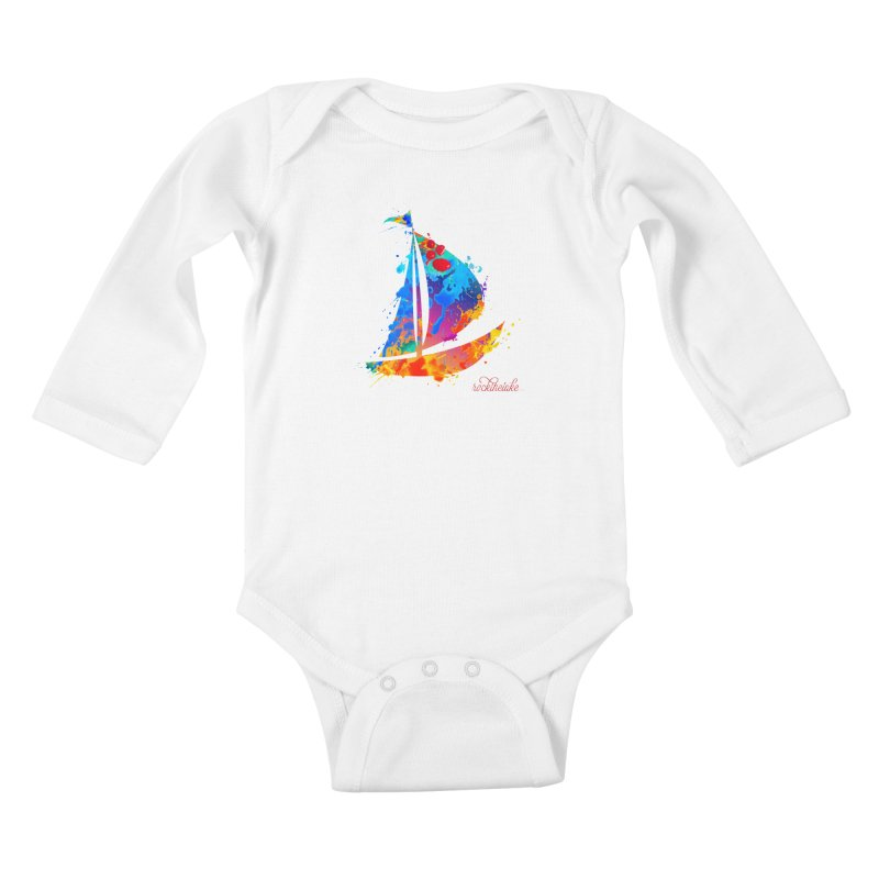 Sail Boat - Rock the Lake Kids Baby Longsleeve Bodysuit by Rock the Lake's Shop