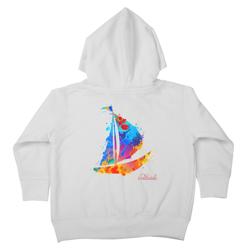 Sail Boat - Rock the Lake Kids Toddler Zip-Up Hoody by Rock the Lake's Shop