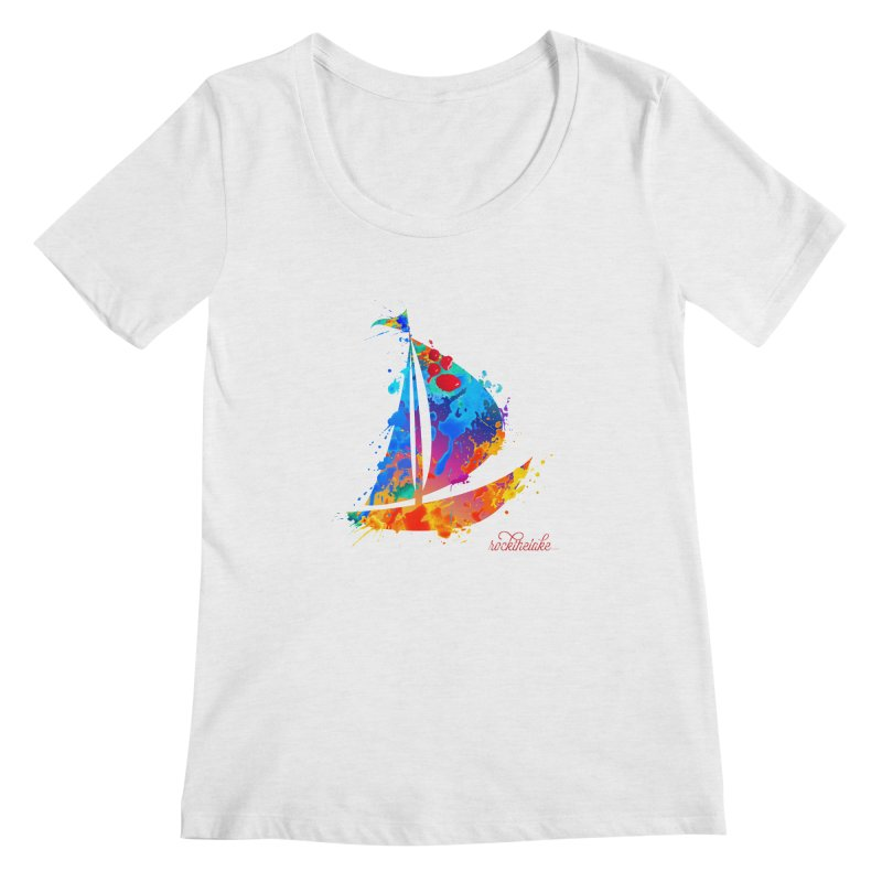 Sail Boat - Rock the Lake Women's Regular Scoop Neck by Rock the Lake's Shop