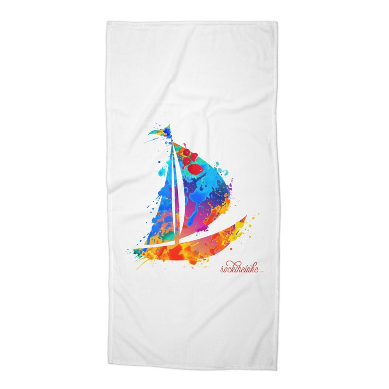 Sail Boat - Rock the Lake Accessories Beach Towel by Rock the Lake's Shop