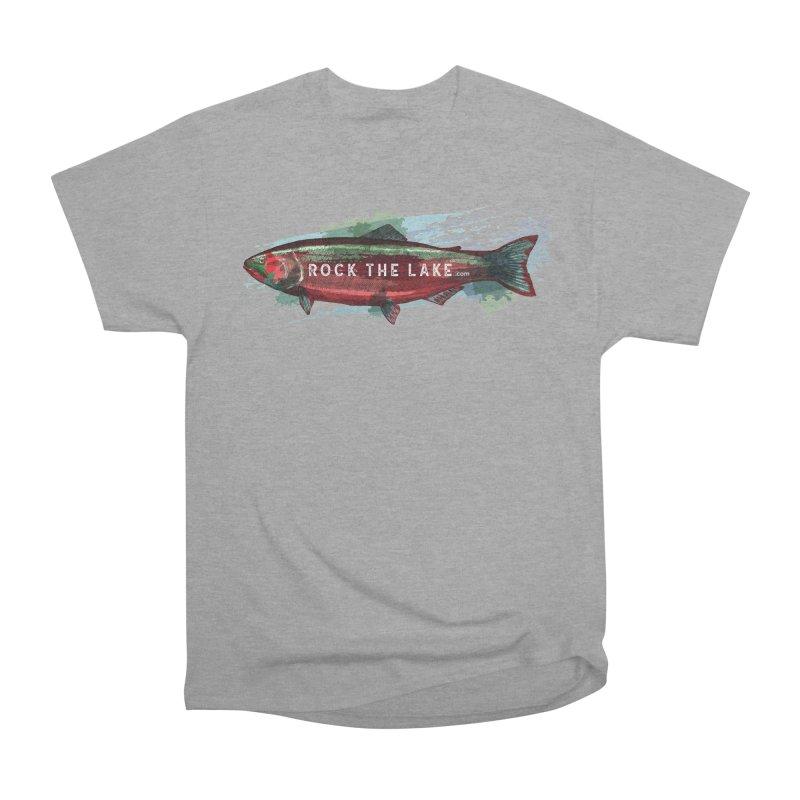 Rock the Lake - Fish Men's Heavyweight T-Shirt by Rock the Lake's Shop