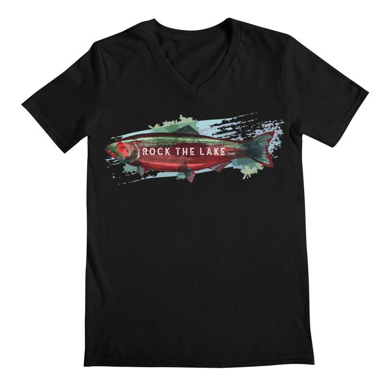 Rock the Lake - Fish Men's Regular V-Neck by Rock the Lake's Shop