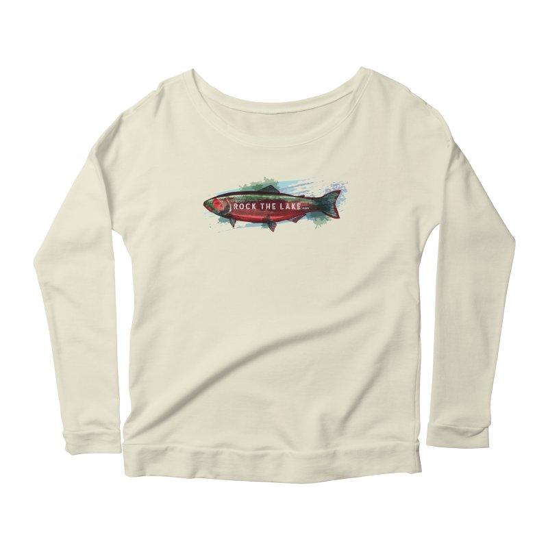Rock the Lake - Fish Women's Scoop Neck Longsleeve T-Shirt by Rock the Lake's Shop