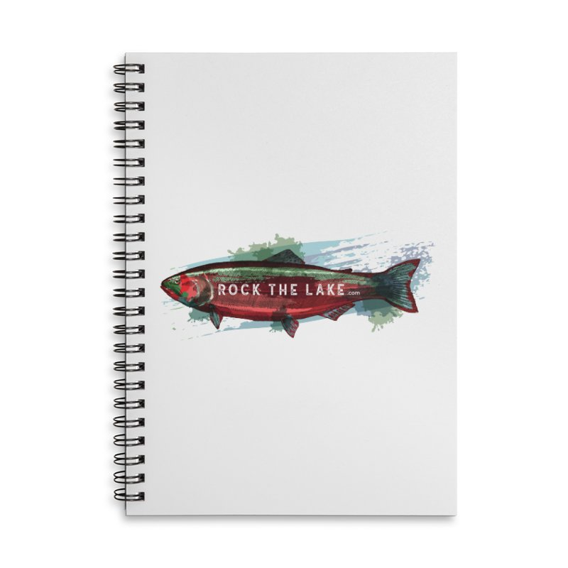 Rock the Lake - Fish Accessories Lined Spiral Notebook by Rock the Lake's Shop