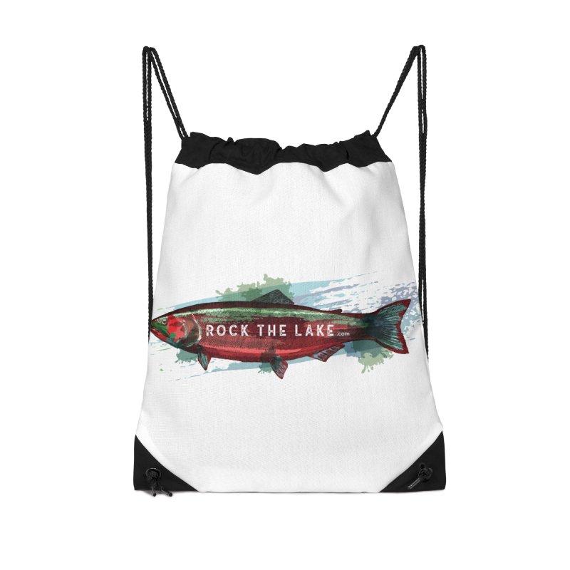 Rock the Lake - Fish Accessories Drawstring Bag Bag by Rock the Lake's Shop