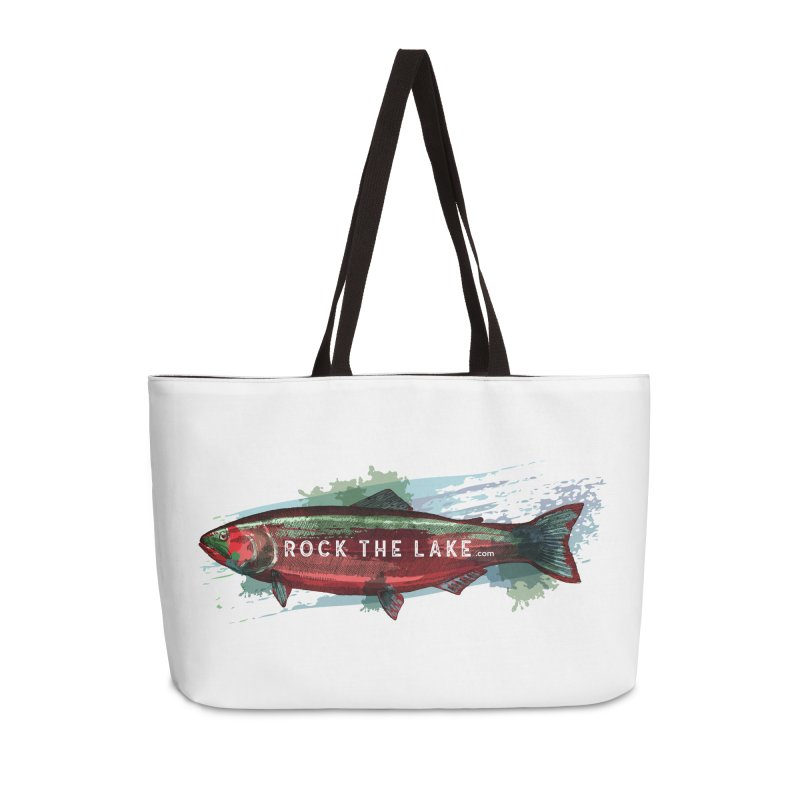 Rock the Lake - Fish Accessories Weekender Bag Bag by Rock the Lake's Shop