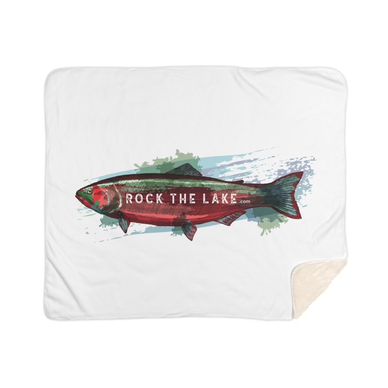Rock the Lake - Fish Home Sherpa Blanket Blanket by Rock the Lake's Shop