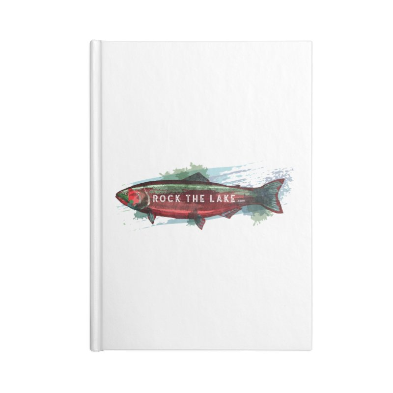 Rock the Lake - Fish Accessories Lined Journal Notebook by Rock the Lake's Shop