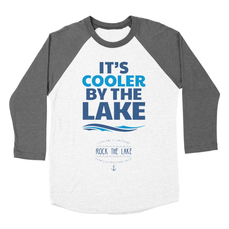 It's Cooler by the Lake - Rock the Lake Men's Baseball Triblend Longsleeve T-Shirt by Rock the Lake's Shop