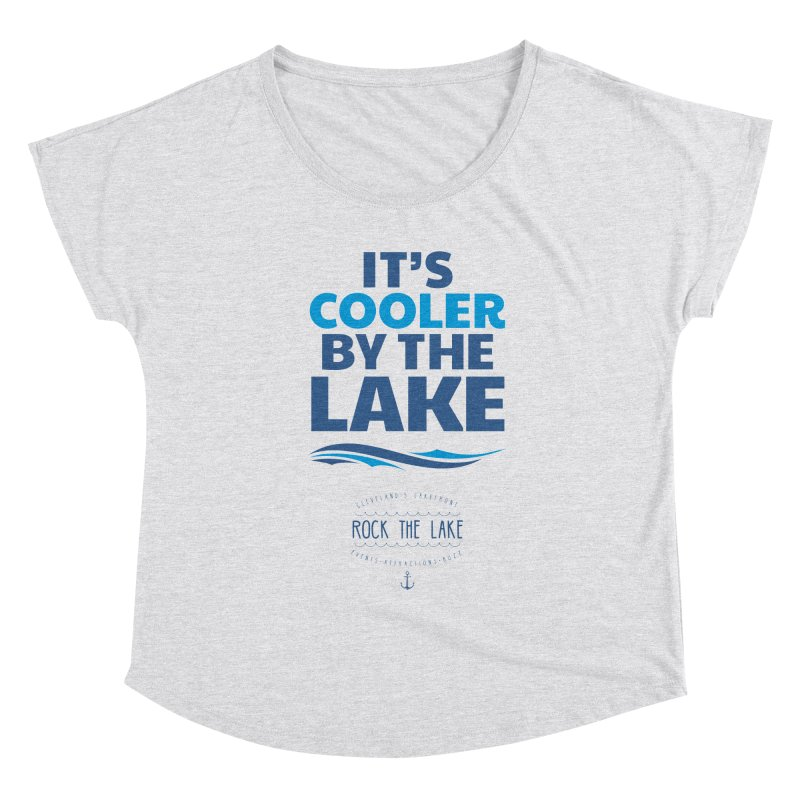 It's Cooler by the Lake - Rock the Lake Women's Scoop Neck by Rock the Lake's Shop