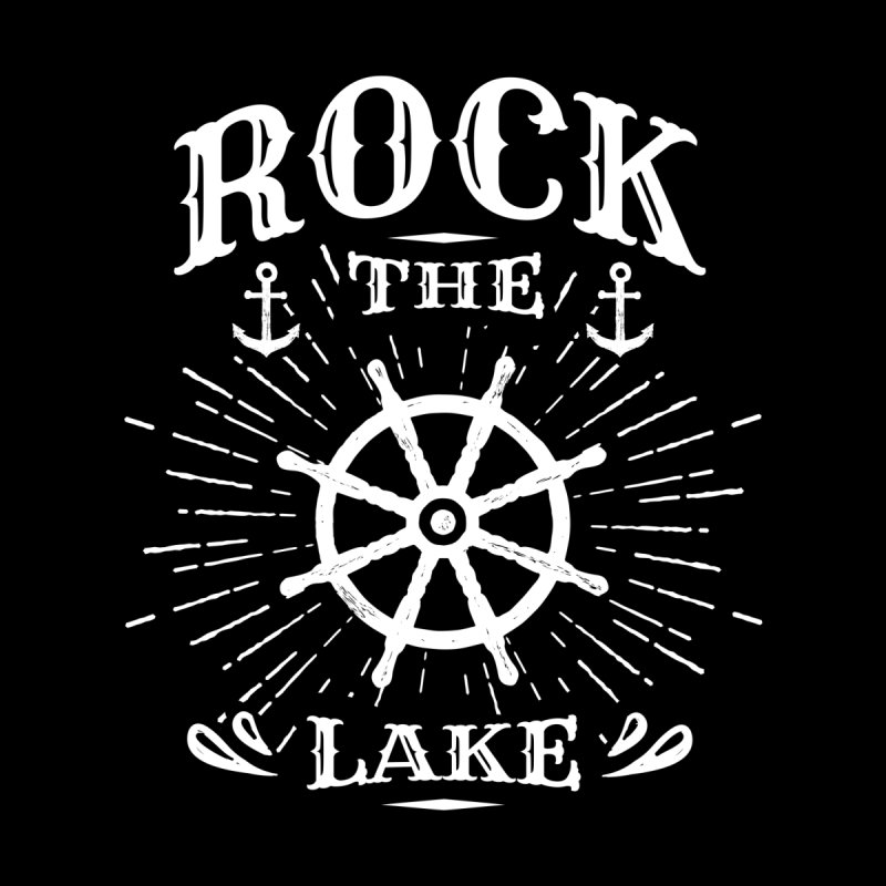 Rock the Lake - Ships Wheel White Home Blanket by Rock the Lake's Shop