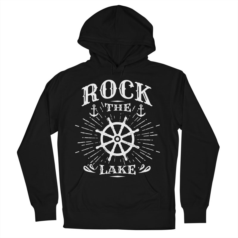 Rock the Lake - Ships Wheel White Women's French Terry Pullover Hoody by Rock the Lake's Shop