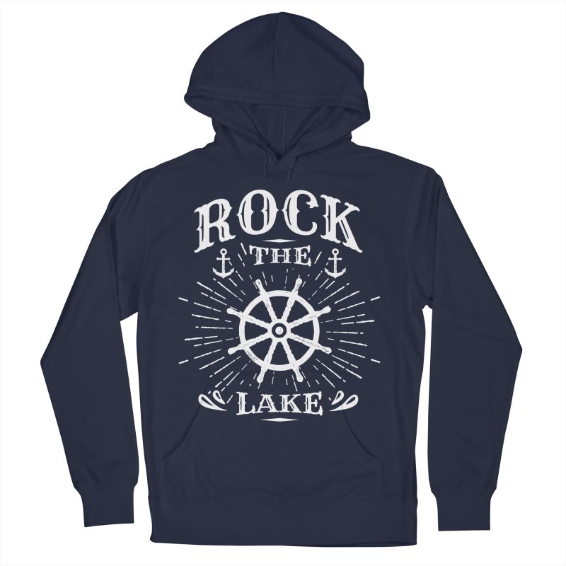 Rock the Lake - Ships Wheel White Men's French Terry Pullover Hoody by Rock the Lake's Shop