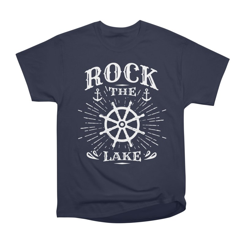 Rock the Lake - Ships Wheel White Men's Heavyweight T-Shirt by Rock the Lake's Shop